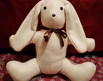Handmade Fleece Stuffed Bunny