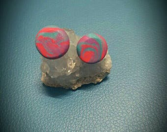 Marbled Button Studs