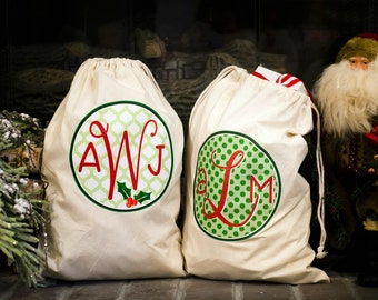 Personalized Large Christmas Bags