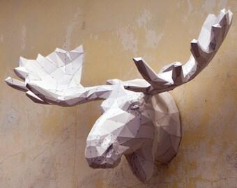 Make Your Own Moose Sculpture.   Papercraft Moose   Papercraft Sculpture   Papercraft Animals   Wild Animals   Bullwinkle   Moose   Alaska