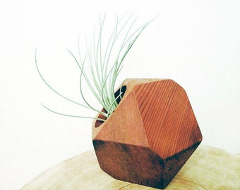 Geometric planter, succulent holder, air plant holder, small wood planter, wood planter, succulent planter, wood wedding decor