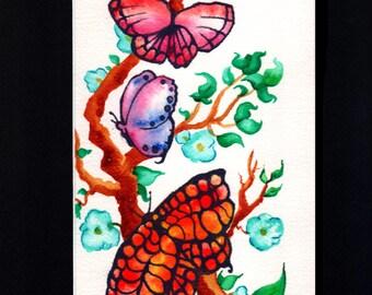 Butterflies on a Vine