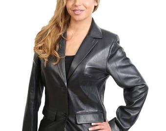 Ladies women blazer brown colour size XS