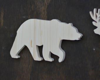 Bear Woodland Animal Wood Cutout