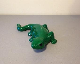 """Ceramic Garden Lizard, About 12"""" Long, Indoor/Outdoor Statue, Patio Decor, Porch Decor, Gift, Lawn Decor, Yard Decor,"""