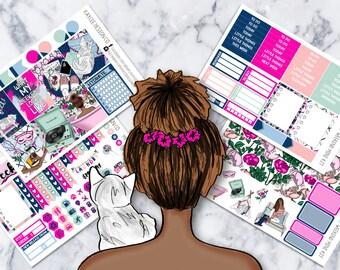 MINI Weekly Kit / My Weekend / Planner Stickers /  Fits Erin Condren Vertical & MAMBI / Glitter / Hand Drawn