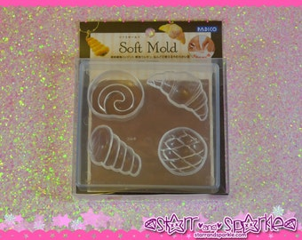 Padico Clay Soft Mold - Bread - for Soft Clay, Charms, Accessories, Deco, Kawaii, Crafts, Miniature Food