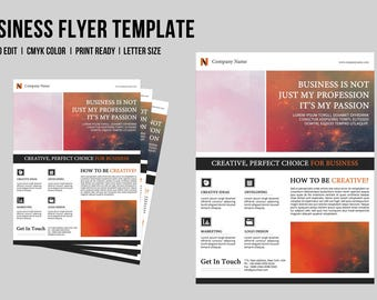 Corporate Flyer Template    Business Flyer Template   Photoshop Template, Instant Download