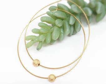 Thin hoop earrings, big gold hoops, thin hoop earrings, dangle hoop earrings, hoop earrings, beaded hoop earrings, stardust bead hoops