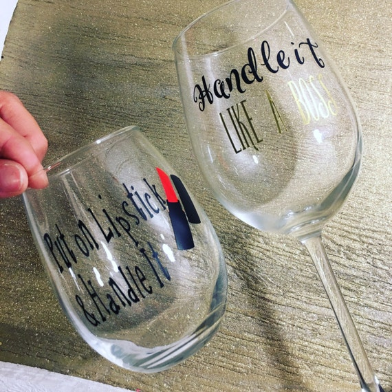 Custom Decals Name Decal Mason Jar Decal Cup Logovinyl - Custom vinyl stickers for wine glasses   for business