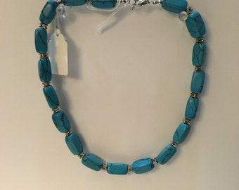 Vintage Blue Stone Necklace