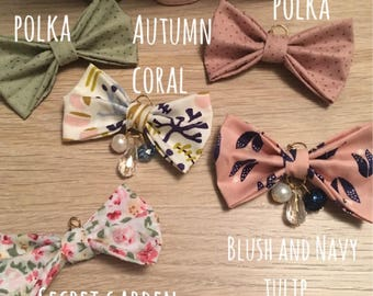 Autumn collection TN bows with dangle charms