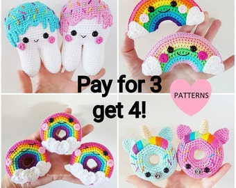 Pattern Bundle, 4 PDF crochet patterns for the price of 3! amigurmi
