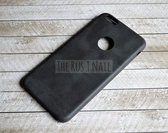 FREE SHIPPING - Black iPhone 6 Plus Ultra Slim Leather Case