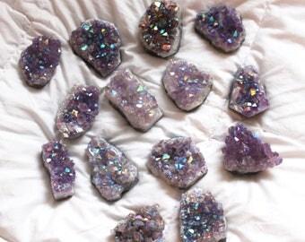 Amethyst Angel Aura Crystal Clusters