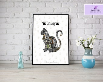 Cat Photo Collage - Personalised Digital Download Print