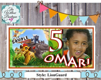 Lion Magnets Personalized with your childs name and photo