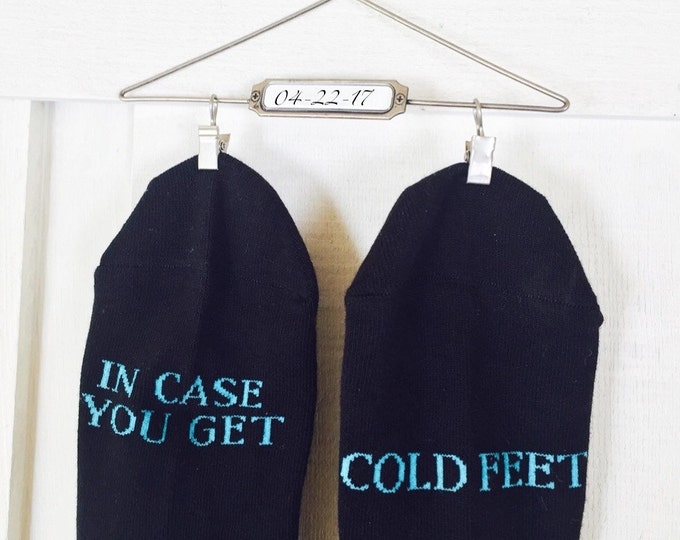 In case you get cold feet socks, wedding, grooms socks, cold feet socks wedding gift idea