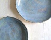 Shoreline Blue Stoneware Plate - Ready to Ship