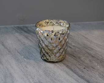 Mercury Glass Candle - Red Currant