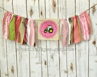 Baby John Deere Brithday Party Cake Smash Bunting - Ready for Your Country Girl!