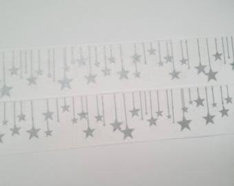 Washi tape Star Silver