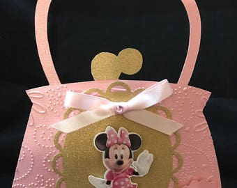 Minnie Mouse Purse  Pink & Gold Invitation