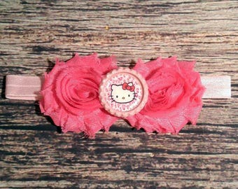 Pink Hello Kitty Headband - Baby Girl Headband - Baby Headband - Baby Bows - Girls Hair Bows - Party Headbands - Infant - Toddler - Baby