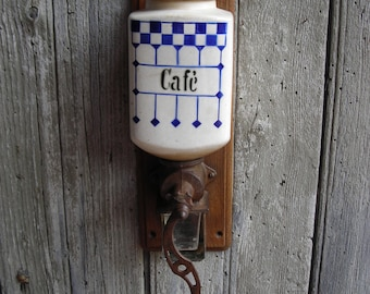 Vintage Coffee Grinder.  Wall-mounted French Coffee Grinder.
