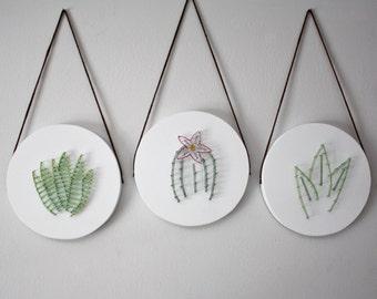 Succulent art, Cacti art, wall hanging, living room wall art, bedroom wall art, home decor, nursery wall art, gift, plant art, boho decor