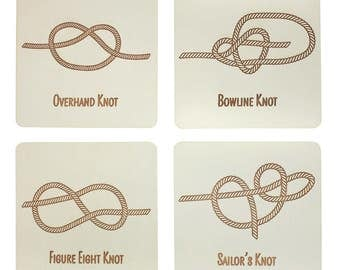 Knot Coasters | Nautical Coasters | Laser Cut | Made in Maine