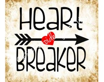 heart breaker svg dxf