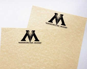 Ministry of Magic Parchment Stationery // Harry Potter Writing Paper // MoM Letter Paper // Harry Potter Stationery