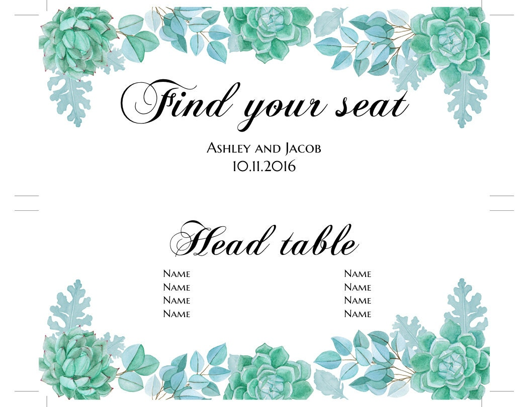 table of 10 seating plan template