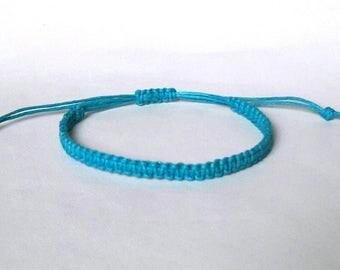 Mens bracelet Cord bracelet men bracelet ocean bracelet light blue string bracelet Boyfriend bracelet Friendship bracelet summer bracelet