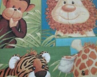 Jungle Fabric Children Crib 1 Yard Cotton
