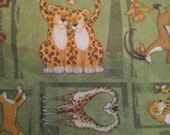 SALE.....Jungle Fabric 2 Yards Cotton Debbie Mumm