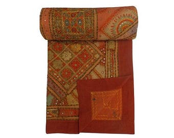 Hand Embroidery Mirrorwork Bedspreads,Bedcover,designer bedspreads,Gypsy Patchwork bedding