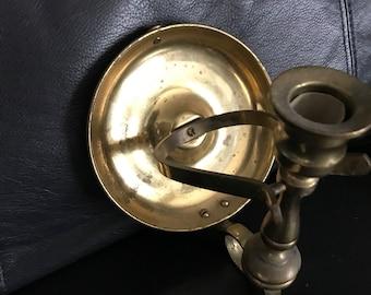 Vintage brass candle sconce