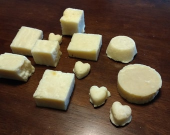 Homemade Lard and Lye Soap, Unscented