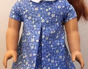 18 in. doll dress, fits 18 in. dolls like american girl dolls, doll dress, 18 in. doll clothes, doll clothes, doll outfits, 60's doll outfit