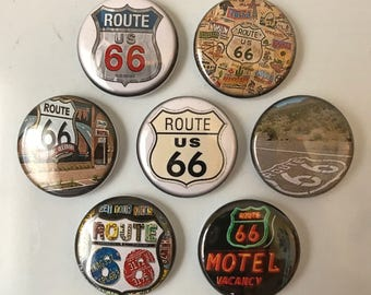 Route 66 Magnets - set of 7