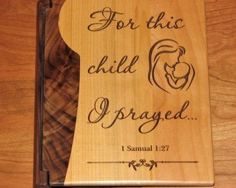 Laser Engraved Wood Photo Album - Baby Photo Album  - Engraved Baby Gift - Baby Shower Gift