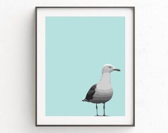 Bird Print, Bird Art, Animal Print Art, Seagull Art, Instant Download Printable Art, Seagull Wall Art, Animal Photography