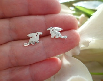 "Tiny Stud Earrings ""Dragons"""
