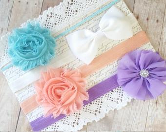 Baby Headbands Bows, Baby Girl Headband Set, Baby Gift Set, Flower Headband Toddler, Bows For Baby Girls, Baby Head Bands, Hair Headbands