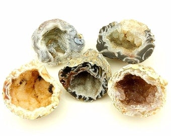Oco Mini Geode Half with Quartz Lot (5) 1.5-2.0 in (Reiki/Chakra) – Brazil B34