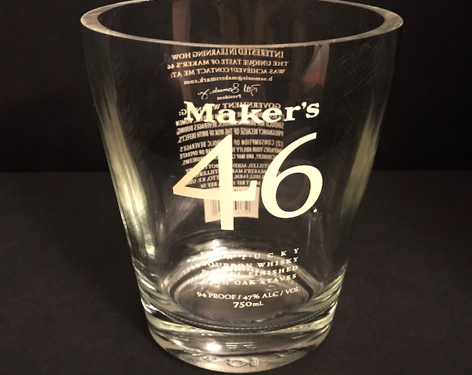 Recycled Maker's 46 Bourbon Whisky Bottle Candle