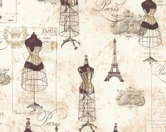 1/2 yd City of Lights Parchment Dressforms by Robert Kaufman Fabrics ATR16737265