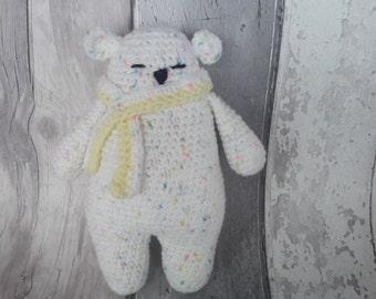 Polar Bear toy - ce tested, teddy bear, crochet bear, white bear, UK